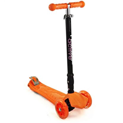 Трёхколёсный самокат со складной регулируемой ручкой и светящимися колёсами Triumf Active Maxi Flash Plus SKL-07CL Оранжевый - 1