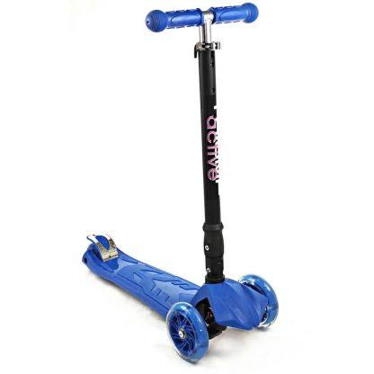 Трёхколёсный самокат со складной регулируемой ручкой и светящимися колёсами Triumf Active Maxi Flash Plus SKL-07CL Синий - 1