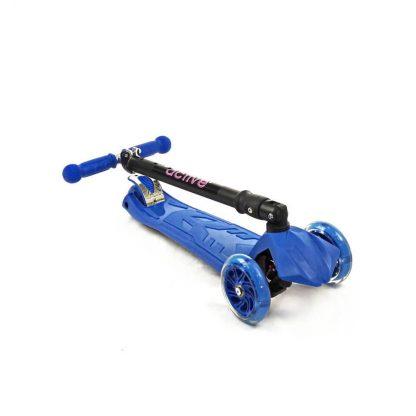 Трёхколёсный самокат со складной регулируемой ручкой и светящимися колёсами Triumf Active Maxi Flash Plus SKL-07CL Синий - 2