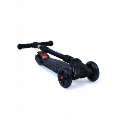 Трёхколёсный самокат со складной регулируемой ручкой и светящимися колёсами Triumf Active Maxi Pro Flash SKL-L-02 Чёрный - 2