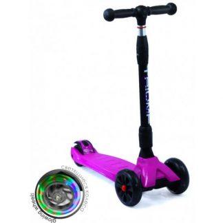Трёхколёсный самокат со складной регулируемой ручкой и светящимися колёсами Triumf Active Maxi Pro Flash SKL-L-02 Фиолетовый - 1