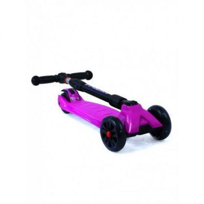Трёхколёсный самокат со складной регулируемой ручкой и светящимися колёсами Triumf Active Maxi Pro Flash SKL-L-02 Фиолетовый - 2