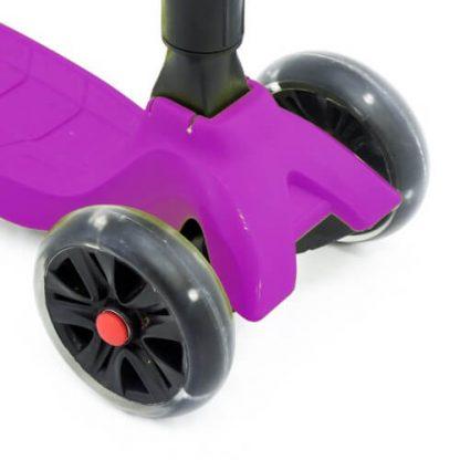 Трёхколёсный самокат со складной регулируемой ручкой и светящимися колёсами Triumf Active Maxi Pro Flash SKL-L-02 Фиолетовый - 4
