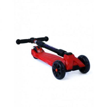 Трёхколёсный самокат со складной регулируемой ручкой и светящимися колёсами Triumf Active Maxi Pro Flash SKL-L-02 Красный - 2