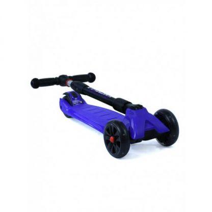 Трёхколёсный самокат со складной регулируемой ручкой и светящимися колёсами Triumf Active Maxi Pro Flash SKL-L-02 Синий - 2