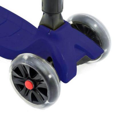 Трёхколёсный самокат со складной регулируемой ручкой и светящимися колёсами Triumf Active Maxi Pro Flash SKL-L-02 Синий - 4