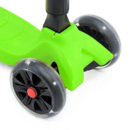 Трёхколёсный самокат со складной регулируемой ручкой и светящимися колёсами Triumf Active Maxi Pro Flash SKL-L-02 Зелёный - 4