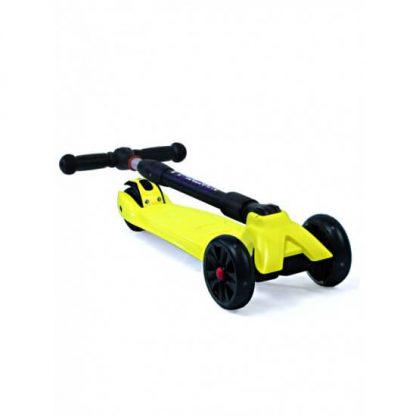 Трёхколёсный самокат со складной регулируемой ручкой и светящимися колёсами Triumf Active Maxi Pro Flash SKL-L-02 Жёлтый - 2