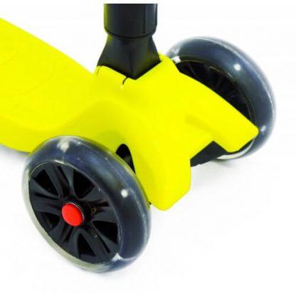 Трёхколёсный самокат со складной регулируемой ручкой и светящимися колёсами Triumf Active Maxi Pro Flash SKL-L-02 Жёлтый - 4