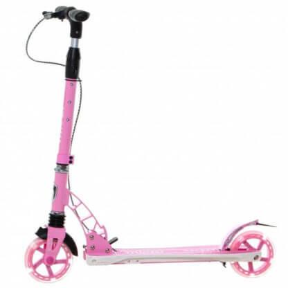 Детский самокат со светящимися колёсами и ручным тормозом Micar Galaxy 145 Розовый - 3
