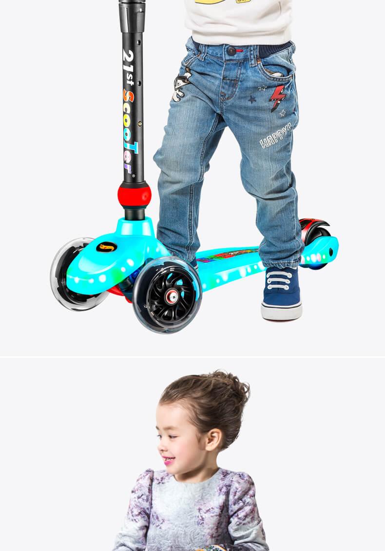 Детский светящийся самокат 21St Scooter Maxi Lights RO203M-8 с подсветкой платформы и светящимися колёсами Фотогалерея - 11