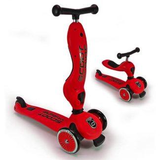 Детский трехколесный самокат-беговел Scoot&Ride HighwayKick 1 красный - 1