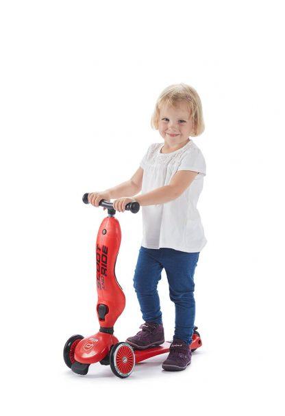 Детский трехколесный самокат-беговел Scoot&Ride HighwayKick 1 красный - 5