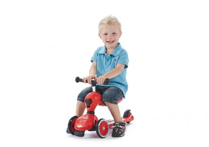 Детский трехколесный самокат-беговел Scoot&Ride HighwayKick 1 красный - 6