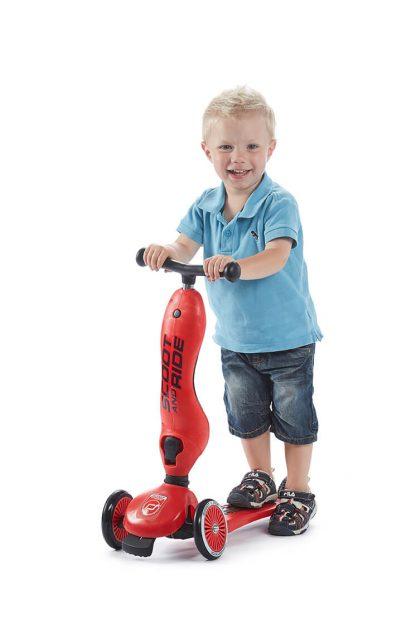 Детский трехколесный самокат-беговел Scoot&Ride HighwayKick 1 красный - 7
