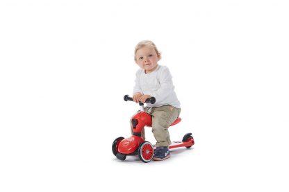 Детский трехколесный самокат-беговел Scoot&Ride HighwayKick 1 красный - 8