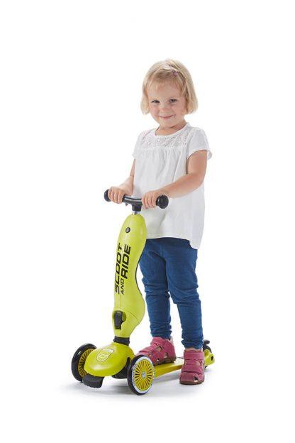 Детский трехколесный самокат-беговел Scoot&Ride HighwayKick 1 лайм - 5