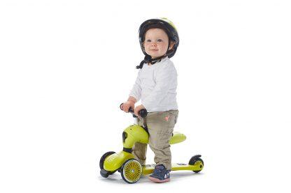 Детский трехколесный самокат-беговел Scoot&Ride HighwayKick 1 лайм - 6