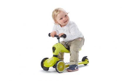 Детский трехколесный самокат-беговел Scoot&Ride HighwayKick 1 лайм - 7