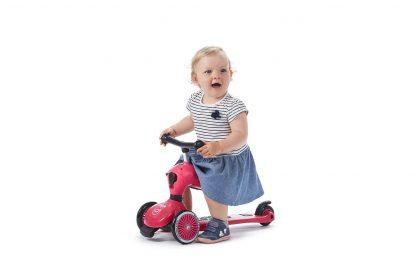 Детский трехколесный самокат-беговел Scoot&Ride HighwayKick 1 розовый - 5