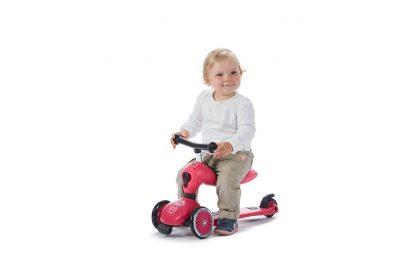 Детский трехколесный самокат-беговел Scoot&Ride HighwayKick 1 розовый - 6