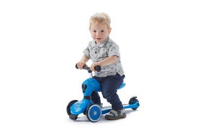 Детский трехколесный самокат-беговел Scoot&Ride HighwayKick 1 синий - 5