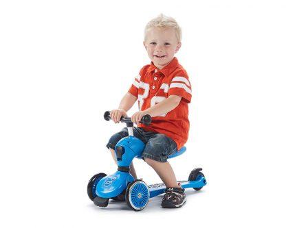 Детский трехколесный самокат-беговел Scoot&Ride HighwayKick 1 синий - 6