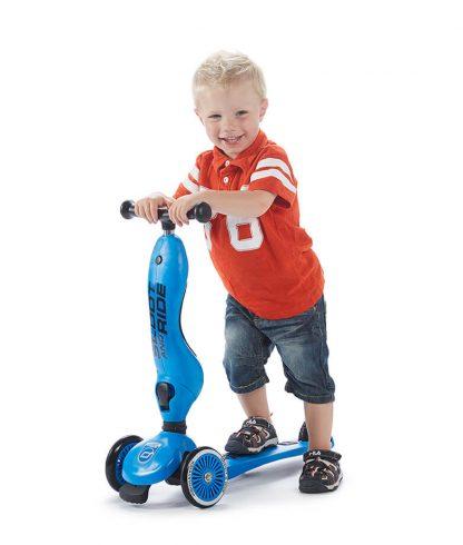 Детский трехколесный самокат-беговел Scoot&Ride HighwayKick 1 синий - 7