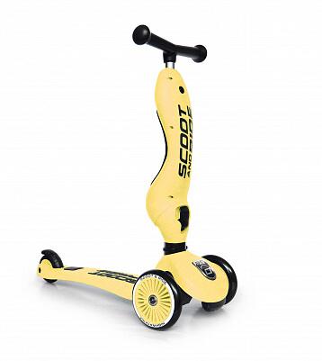 Детский трёхколёсный самокат-беговел 2 в 1 Scoot&Ride HighwayKick 1 - Лемон