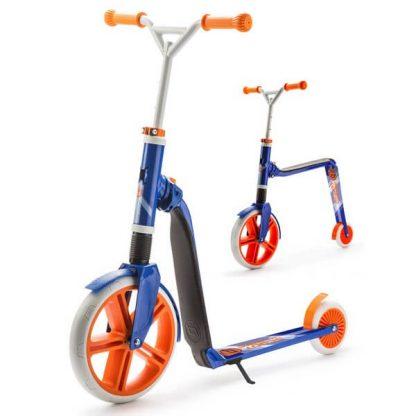 Двухколёсный самокат-беговел 2 в 1 Scoot&Ride Highway Gangster Бело-сине-оранжевый - 1