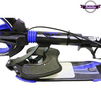Двухколёсный самокат с подставкой для ребёнка, ручным тормозом и двумя амортизаторами Triumf Active K5 Синий - 3