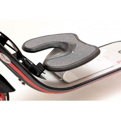 Двухколёсный самокат Triumf Active K2T с ручным тормозом, двумя амортизаторами и колёсами 200 мм - чёрно-красный с подставкой для ребёнка - 4