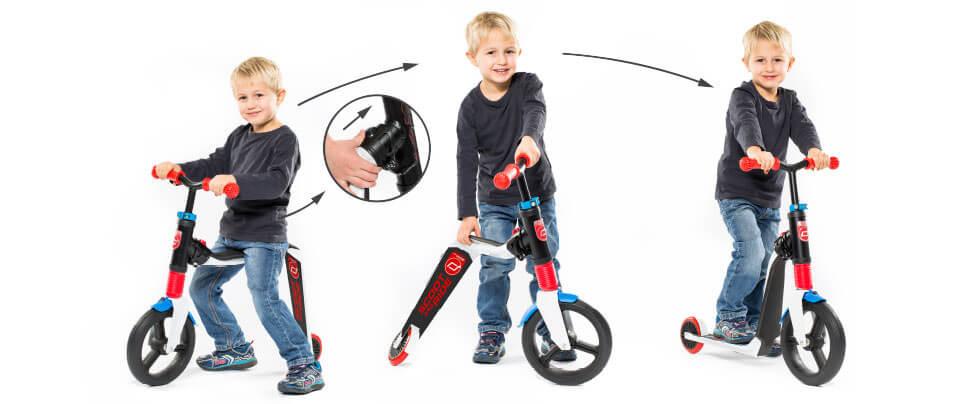 Scoot&Ride Highway Freak - мальчик трансформирует самокат в беговел