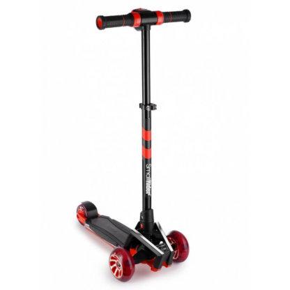 Трёхколёсный самокат с подсветкой платформы, звуковым эффектом и широкими светящимися колёсами Small Rider Premium Pro 2 Красный - 1