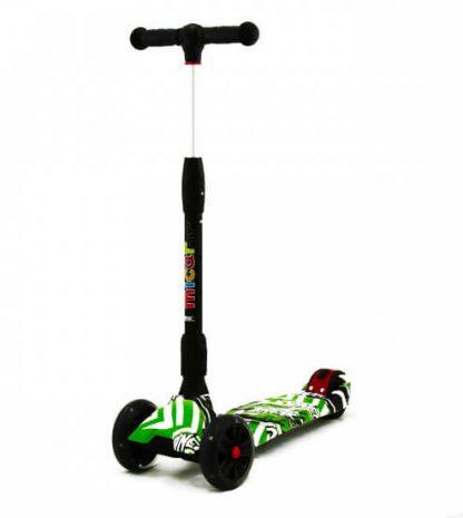 Трёхколёсный самокат Scooter Maxi Micar Ultra Comics со складной регулируемой ручкой и светящимися колёсами - 2