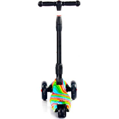 Трёхколёсный самокат Scooter Maxi Micar Ultra Rainbow со складной регулируемой ручкой и светящимися колёсами - 6