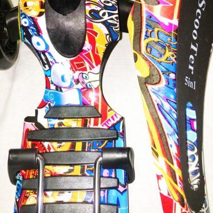 Самокат-беговел 5 в 1 с принтом 21st Scooter 5 in 1 Print Граффити 2 - рисунок крупным планом