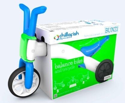 Беговел для детей от 1 года Chillafish Bunzi сине-зелёный - 2