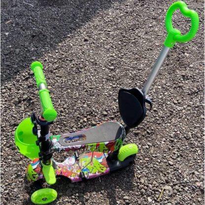 Детский трёхколёсный самокат 5 в 1 принт 21st Scooter 5 in 1 Print Божья Коровка - Хип-Хоп