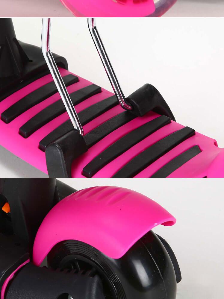 Детский трёхколёсный самокат-беговел 5 в 1 с сиденьем родительской ручкой и светящимися колёсами 21st Scooter 5 in 1 Божья коровка - 6