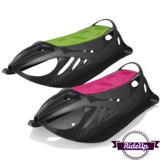 Детские пластиковые санки Gismo Riders Neon Grip - Чёрно-зелёный и Чёрно-розовый