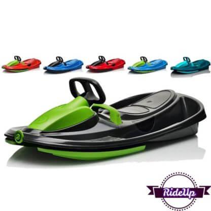 Детские пластиковые санки-снегокат c рулем и тормозом Gismo Riders Stratos - все цвета