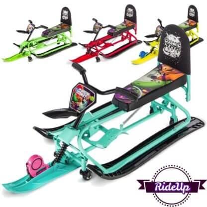 Детский снегокат-трансформер с колёсами и спинкой Small Rider Snow Comet 2 - все расцветки