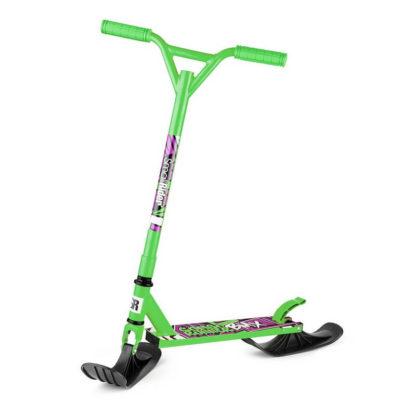 Детский трюковый самокат-снегокат с лыжами и колесами Small Rider Combo Runner BMX Зелёный - 2