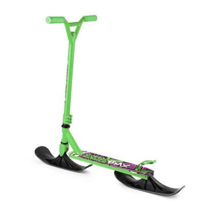Детский трюковый самокат-снегокат с лыжами и колесами Small Rider Combo Runner BMX Зелёный - 3
