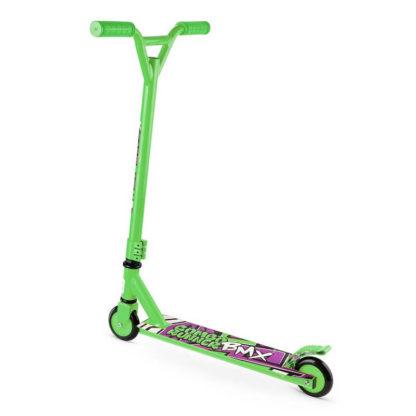 Детский трюковый самокат-снегокат с лыжами и колесами Small Rider Combo Runner BMX Зелёный - 5