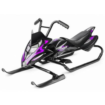 Снегокат-снегоход Small Rider Scorpion Duo две лыжи спереди Чёрно-фиолетовый
