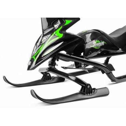 Small Rider Scorpion Duo Чёрно-зелёный - две лыжи спереди крупным планом