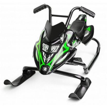 Small Rider Scorpion Duo Чёрно-зелёный - вид спереди