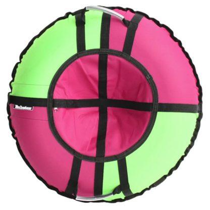 Тюбинг Hubster Хайп Зелёно-розовый 120 см - 1